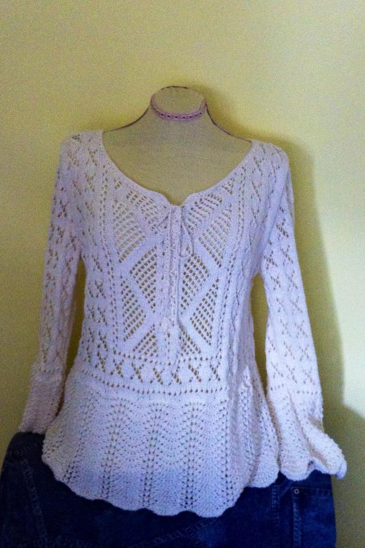 Tunique en coton au tricot