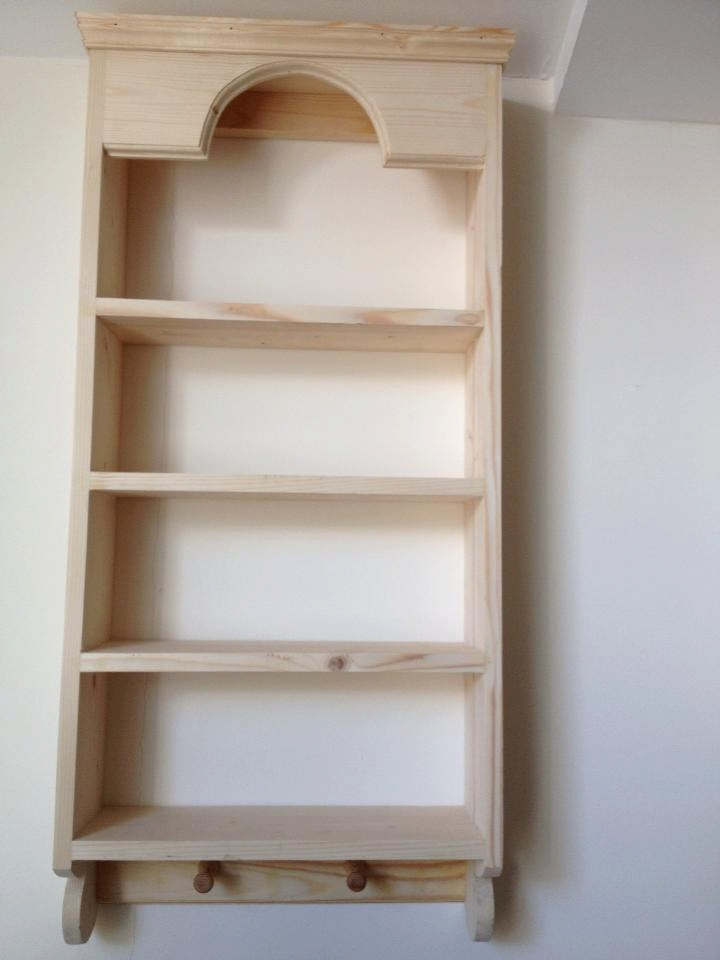 Pretty Pine Shelf Unit, made from new wood. I would fill it with tea cups!