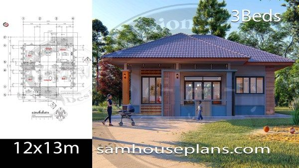House Plans Idea 8x7 With 3 Bedrooms Sam House Plans Bungalow House Floor Plans My House Plans House Plans