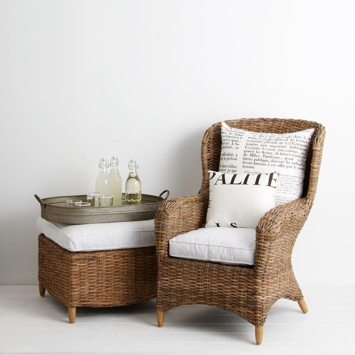 Myami Rattan Wingback Chair   The Charm And Elegance Of Classic Wicker Chair  Handcrafted In A