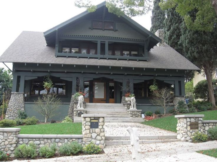 231 best images about craftsman style bungalows on for Californian bungalow front door