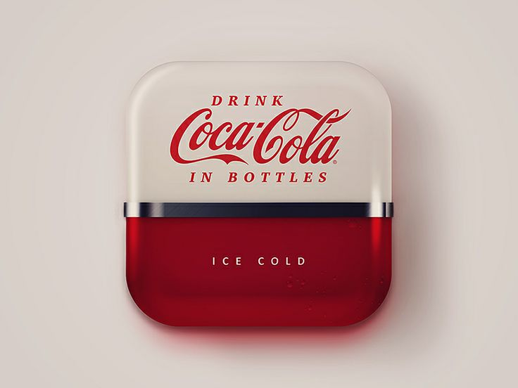50s coke machine icon - by Andrew Baygulov | #ui