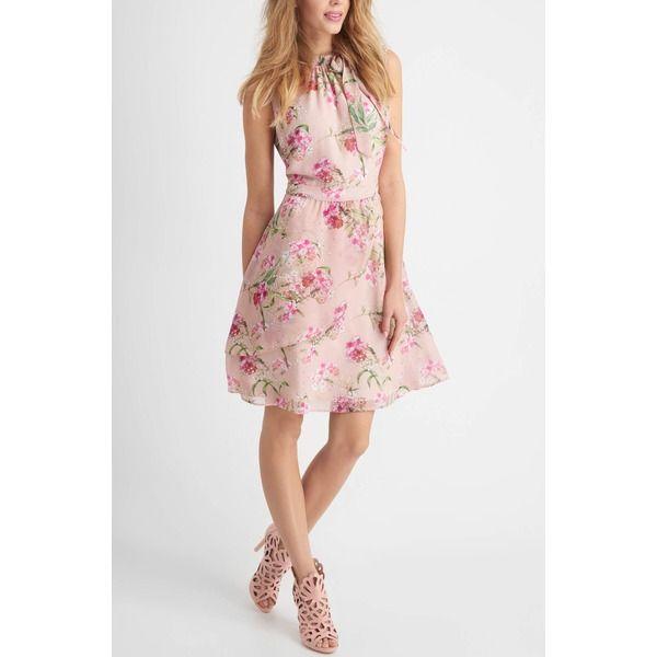 detaillierte Bilder bester Service 2019 am besten ORSAY Ärmelloses Kleid mit Blumen-Print Rosa tailliert Damen ...
