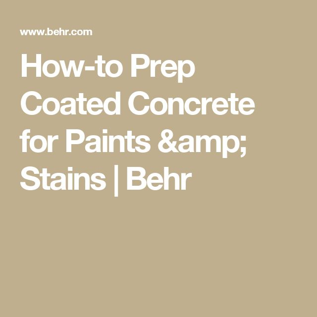 Best 25 Behr Concrete Paint Ideas On Pinterest