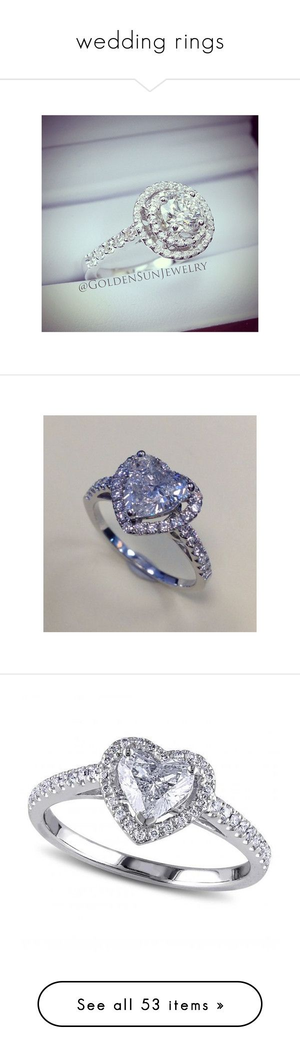 wedding rings by cassiedope on Polyvore featuring polyvore, women's fashion, jewelry, rings, instagram, wedding, wedding stuff, wedding rings, wedding jewelry, wedding jewellery, heart shaped diamond ring, heart ring, heart shaped wedding rings, white gold engagement rings, 18k white gold ring, white, round engagement rings, white gold jewelry, 14k engagement ring, heart engagement rings, white ring, aneis, yellow gold diamond ring, gold wedding rings, yellow gold wedding rings, engagement…