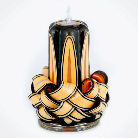 Carved Candle  Black Candle  Beige Candle  by NewYorkCandleFactory, $22.99