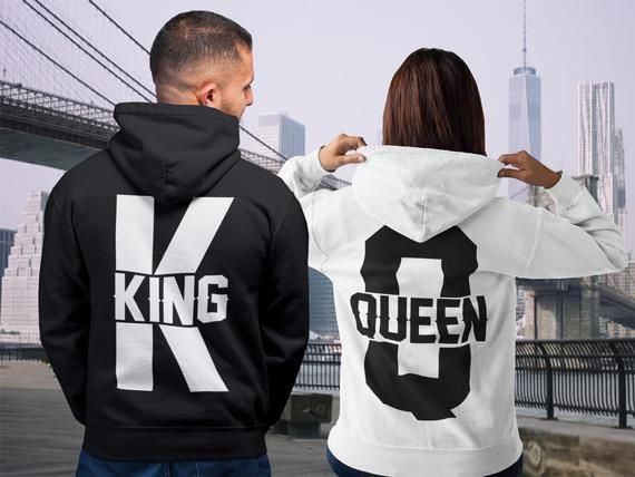 126340394c King Queen, King Queen Hoodies, Set of King & Queen, Pärchen Pullover, Couple  Sweatshirts, King Queen Sweaters, Christmas Hoodies, Xmas gift