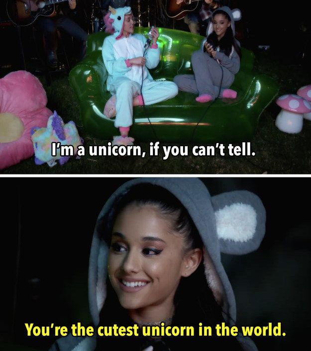 And Ariana flirted right back. | Miley Cyrus And Ariana Grande Teamed Up For A Flirty Duet ✨ pinterest & instagram - @ninabubblygum ✨