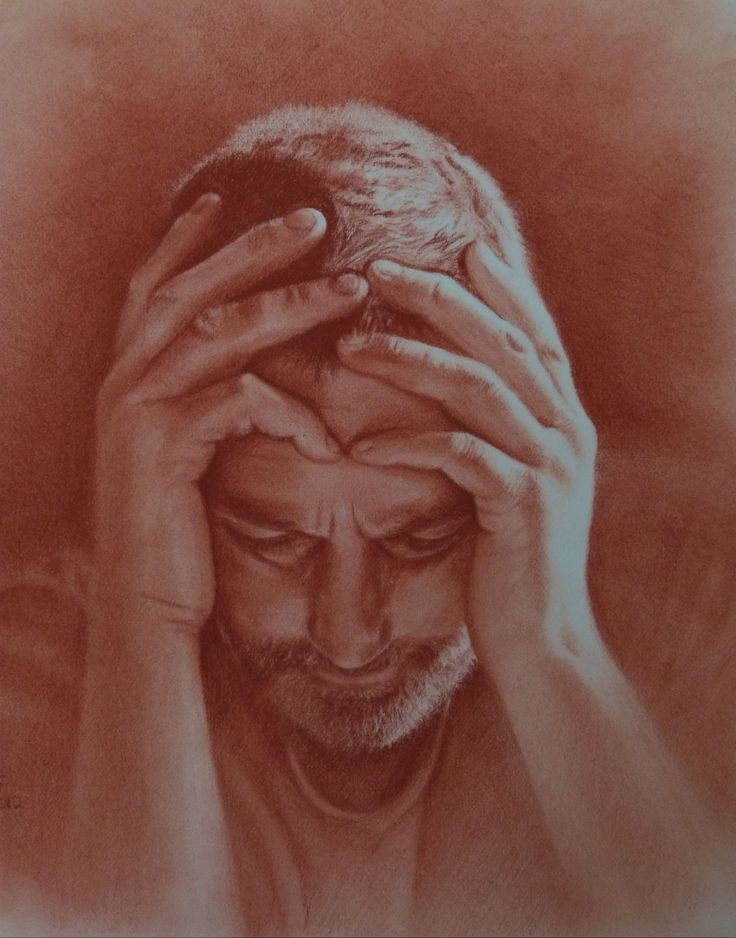 'Absence of Hope'  Conte pencil on paper - SOLD