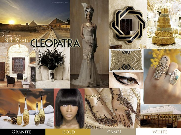 Black and gold, cleopatra-inspired dream palette ...