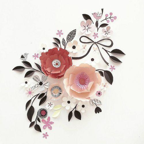 Sculpted Paper Flower Flourish