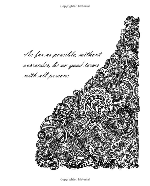 Amazon.com: Inspirational Desiderata Poem Adult Coloring Book: Stress Relieving Patterns Surround Inspirational Quotes from the Classic Poem Desiderata by Max Ehrmann (9781523478910): G. Smith, Max Ehrmann: Books