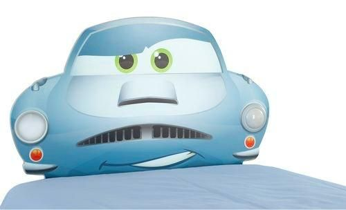 This beautifully designed Disney Pixar Cars 2 headboard with integral night light glows softly offering a reassuring night time glow. The sturdy MDF headboard fits any standard single divan bed and combines an easy switch night light built in to the main fascia, adding sparkle to your little boy's bedroom. The light switches off automatically after 15 minutes!