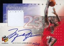 1999-00 UD HoloGrFX Shoetime Autograph Michael Jordan #/23