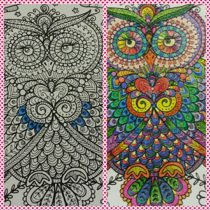 Mandala baykuş boyama
