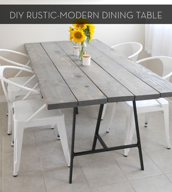Make It A Rustic Modern Diy Dining Table Dining Tables Diy Dining