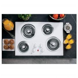 La table de cuisson électrique encastrée blanche de 30