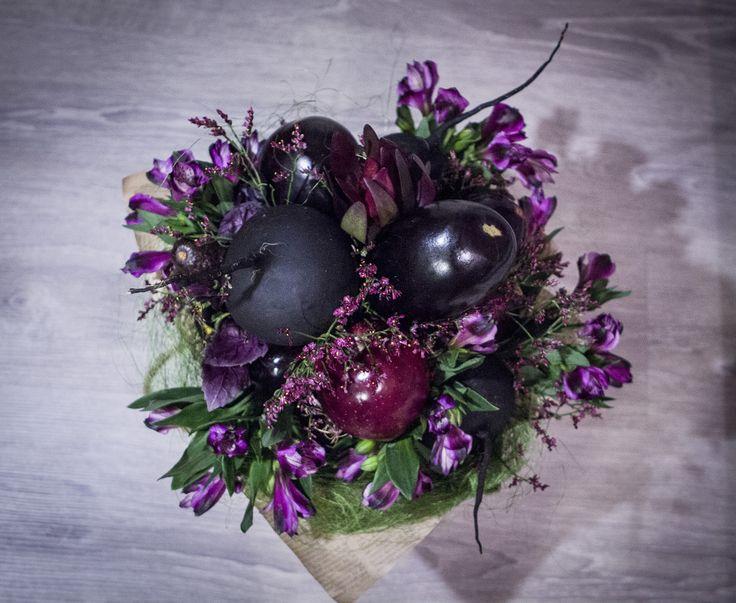 """Букет из овощей """"Черный Принц 2"""" цена 3000р"""