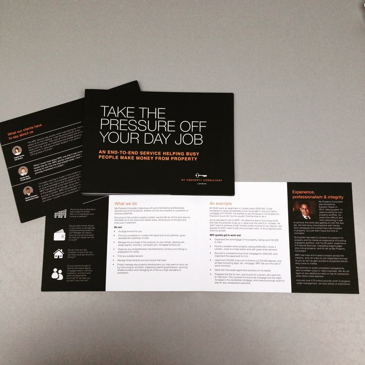 A5 lanscape, matt laminate leaflets. Designed and printed by www.brandabble.co.uk