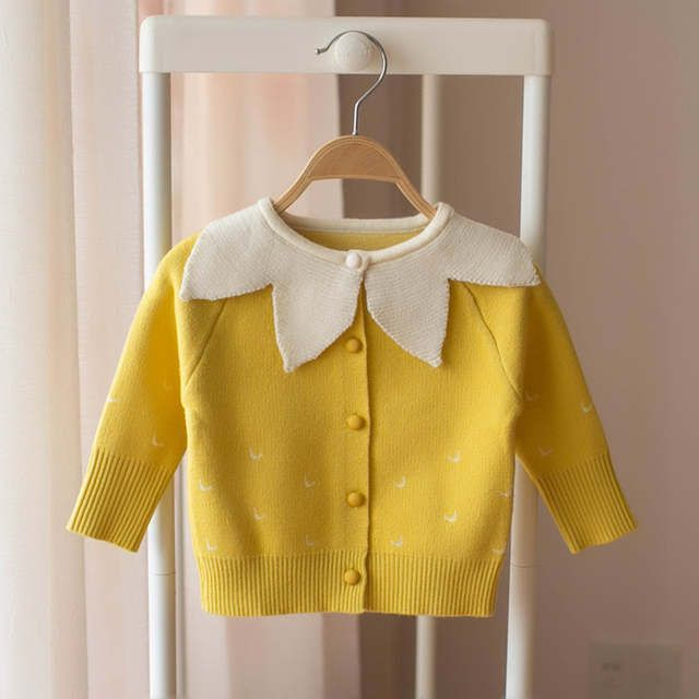 Korean Style 2019 Spring Toddlers Girls Knitted Sweaters