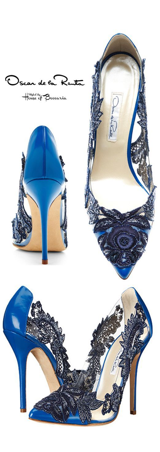 ~Oscar de la Renta Alyssa Lace Pump | House of Beccaria# https://ladieshighheelshoes.blogspot.com/2016/10/womens-shoes.html