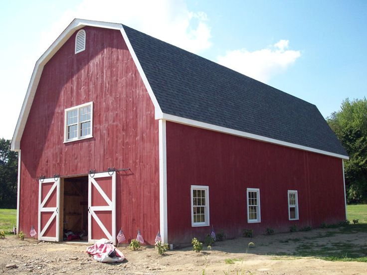104 best images about gambrel barn with apartment on pinterest for Gambrel house kits