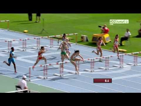 Check Out hurdler Michelle Jenneke showing off her warmup routine before dominating race!