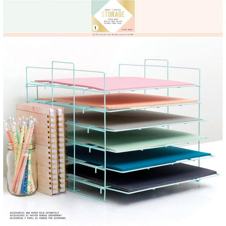 Crate Paper Desktop Storage Paper Rack