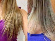 Quem tem cabelos loiros sabe o quanto é difícil mantê-los lindos e sem o tom amarelado e os cabelos brancos também tem tendência a amarelar. Esta receita c