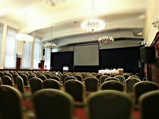 Our largest meeting room-the Congress Hall / originally it used to be a gym for soldiers.