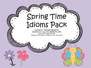 thedabblingspeechie - Head In The Clouds Idioms Activity & FREEBIES