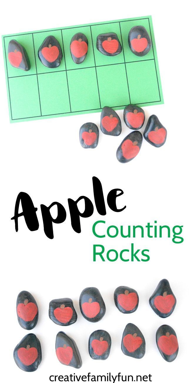 Apple Counting Rocks Math Is Funlearning