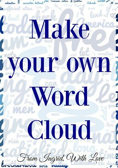 Make Your Own Word Cloud- Learn to make your own word cloud- such a great way to display a favorite song, chapter or verse. | From Ingrid, With Love