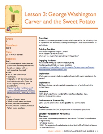 best george washington carver images george  here s a nice lesson on george washington carver and the sweet potato