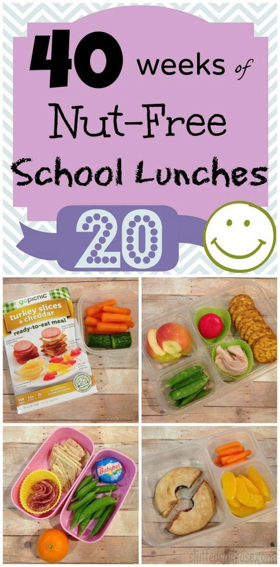 Kids School Lunch Ideas - Week 20 of 40 Weeks of Nut Free lunchbox packing | Stuffed Suitcase