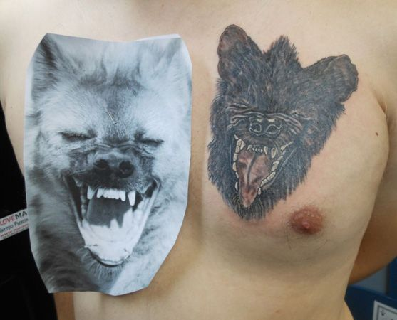 17 best hyena face tattoo images on pinterest face tattoos facial tattoos and hyena. Black Bedroom Furniture Sets. Home Design Ideas