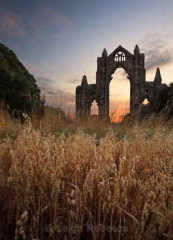 pagewoman:   Guisborough Priory, North Yorkshire, England. by Leigh Rebecca