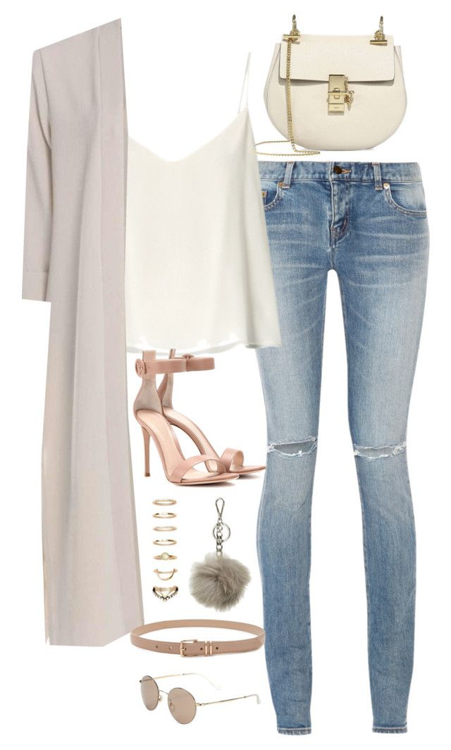 Sem título #5003 by fashionnfacts on Polyvore featuring polyvore, fashion, style, Raey, Boohoo, Yves Saint Laurent, Gianvito Rossi, Chloé, Forever 21, MICHAEL Michael Kors, Gucci and clothing