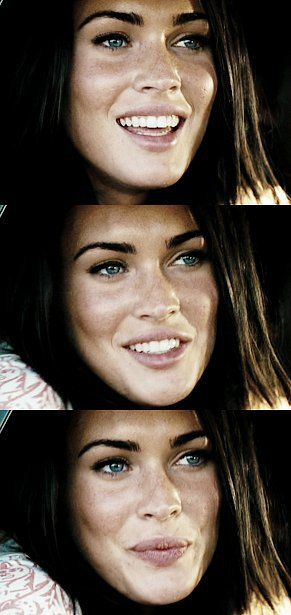 megan fox... Drove beside her for about 20 minutes... More beautiful than all of her pictures... WOW... Checked in her mirror too many times for my liking though