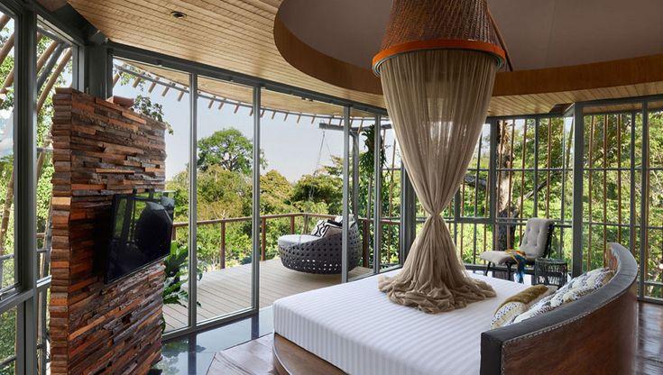 Une chambre au design exotique au cœur de la nature pour un séjour évasion complet