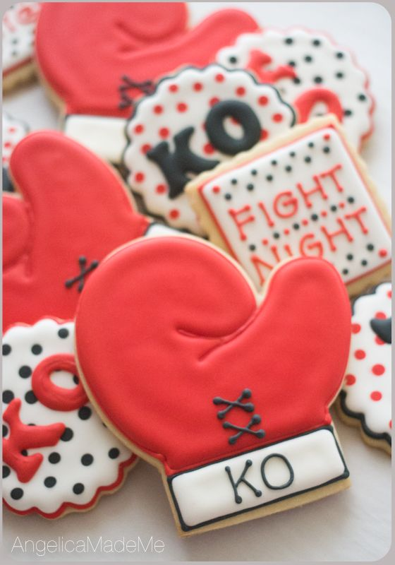 Boxing Glove Sugar Cookies. Ready for MayPac fight night?