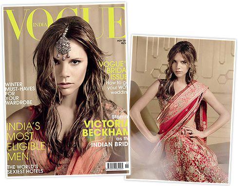 Victoria Beckham as the indian bride