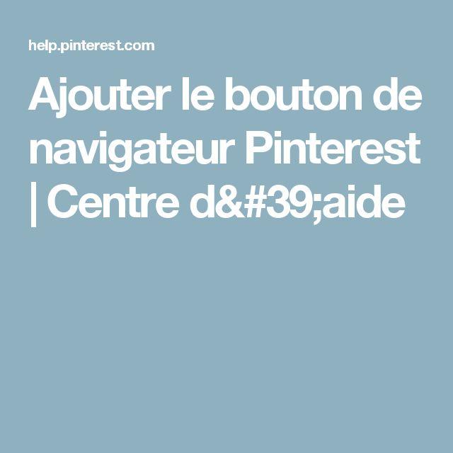 Ajouter le bouton de navigateur Pinterest | Centre d'aide