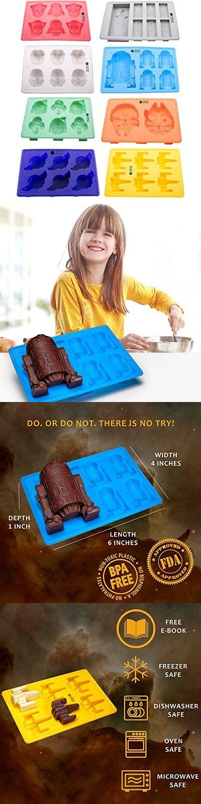 Ice Cube Trays and Molds 177015: 8 Silicone Candy Chocolate Ice Molds - Star Wars Darth Vader R2d2 Stormtrooper -> BUY IT NOW ONLY: $30.24 on eBay!