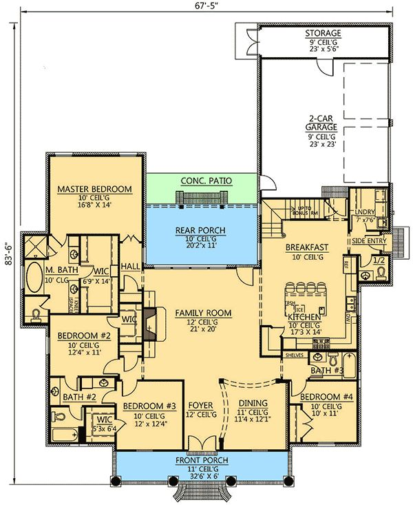 25 best ideas about acadian house plans on pinterest for Bonus room house plans