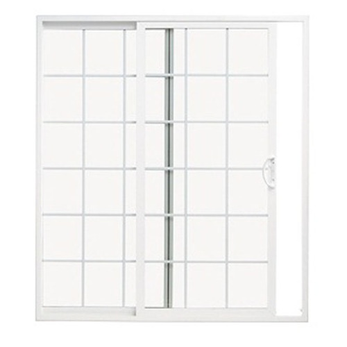 Pella Sliding Doors >> ThermaStar by Pella 70-3/4-in Dual-Pane Grilles Between The Glass Vinyl Sliding Patio Door Item ...