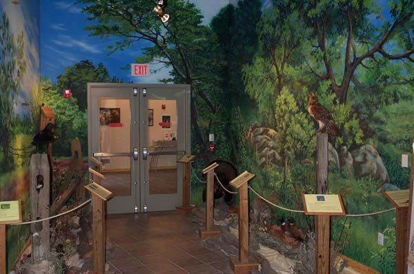 Butterfly Exhibit At Nature Center Trade Show Displays