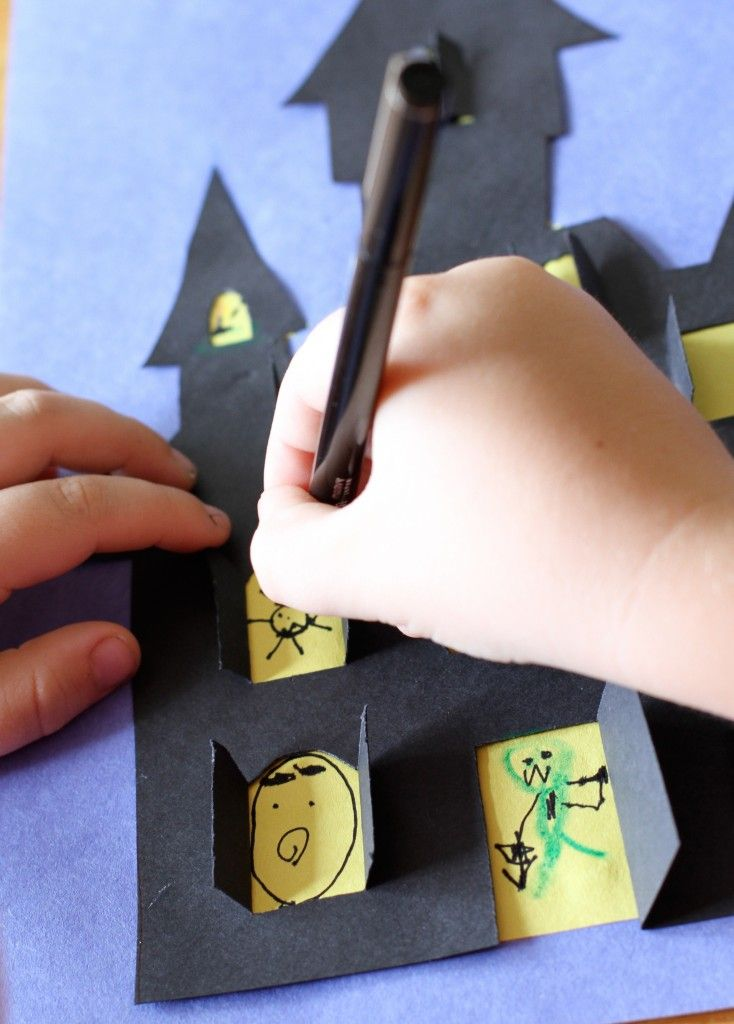 DIY Haunted House Halloween Cut-out