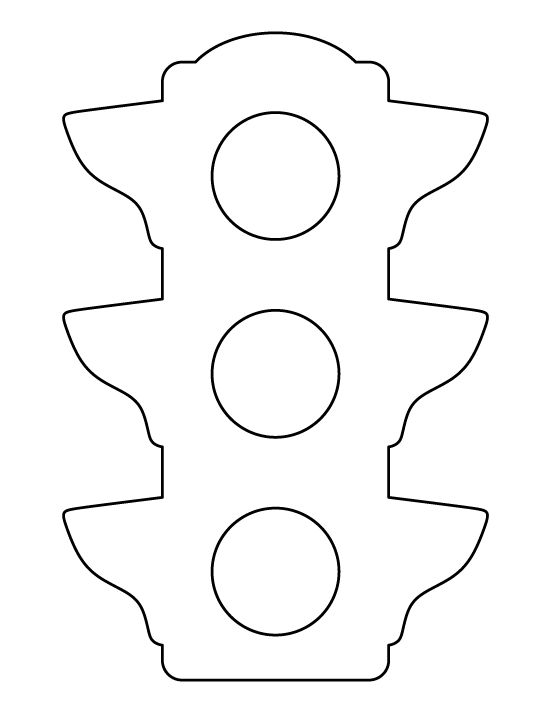 Traffic light pattern. Use the printable outline for crafts, creating stencils, scrapbooking, and more. Free PDF template to download and print at http://patternuniverse.com/download/traffic-light-pattern/