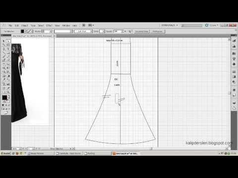 model uygulamalı etek 14/ The model applied skirt pattern 14 - YouTube